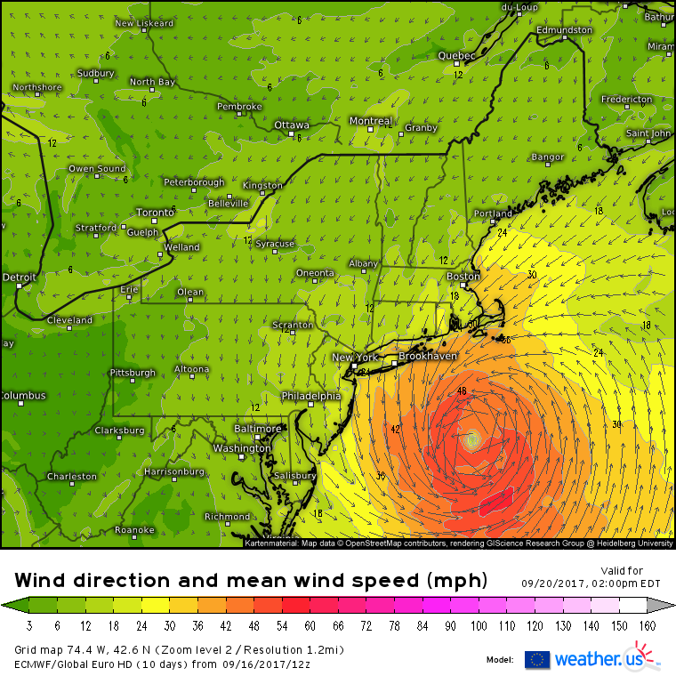 Winds Will Be Sustained In The 30 40 Mph Range Across The Cape And Islands With Gusts To 50 Mph Possible Lighter But Still Breezy Winds Will Be Noted