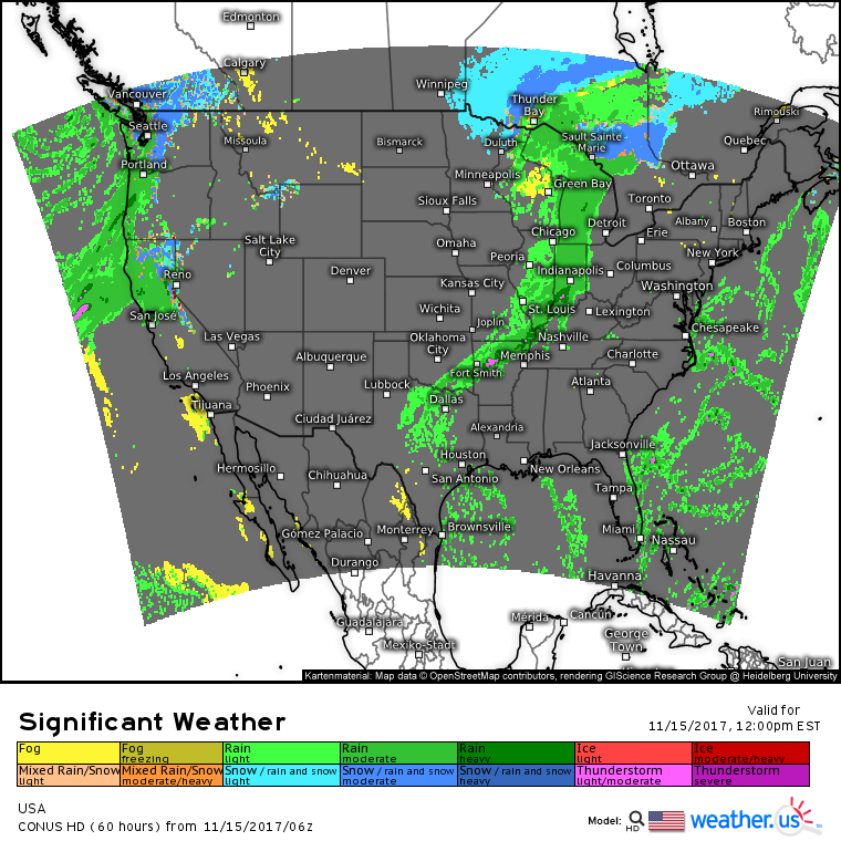Cold Front To Bring Showers To The Midwest Today While Pacific ...