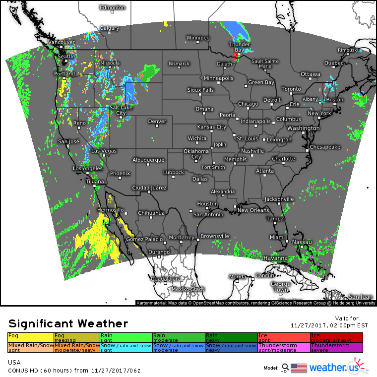 Pacific Moisture Moves East Into The Rockies Today Blogweatherus - Us moisture map