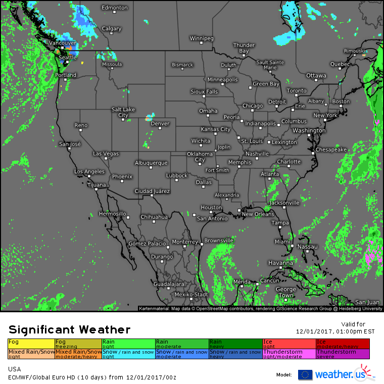More Quiet Weather Today Blogweatherus - Us weather today map