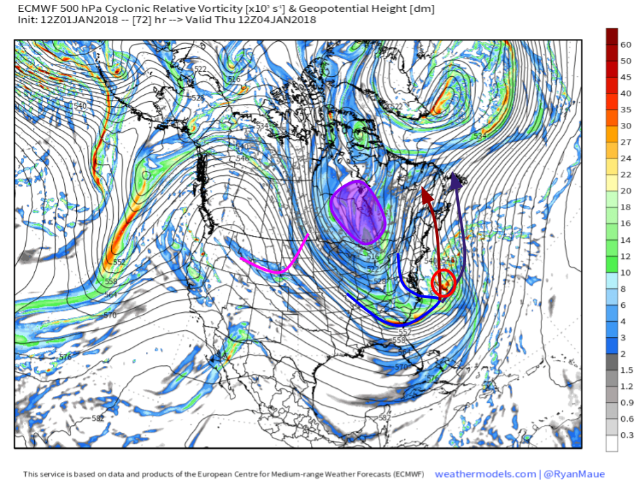 Major Storm To Develop Off The East Coast Bringing Snow Wind And - Us Storm Map