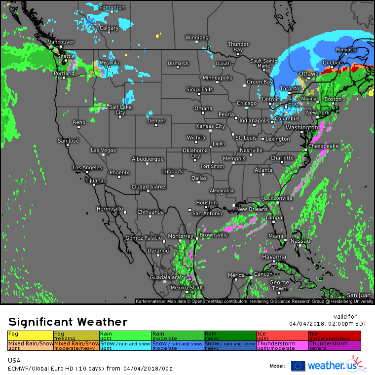 Active Weather Reaches The East Coast Today – blog.weather.us