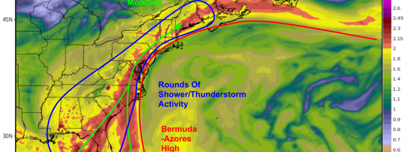 Deep Tropical Moisture To Stream Up The East Coast This Weekend