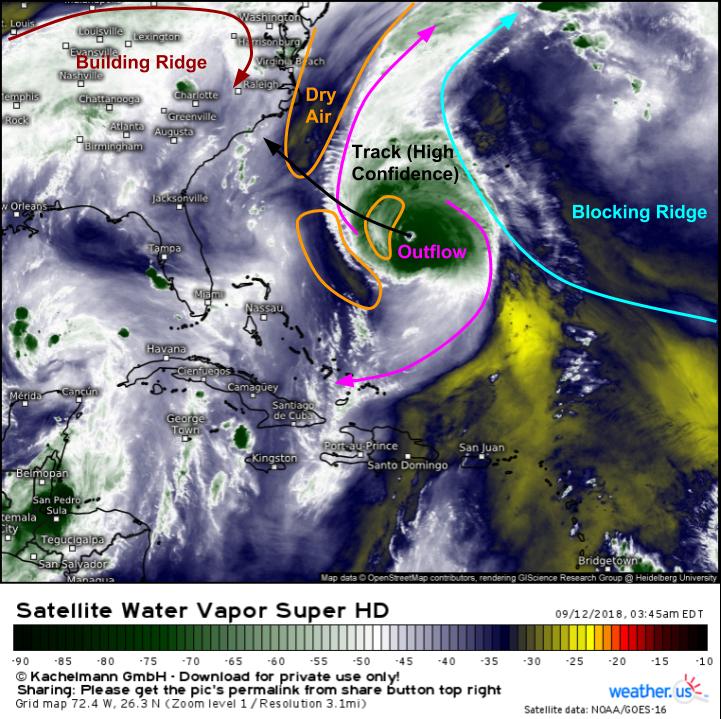 Major Hurricane Florence Set To Arrive In North Carolina