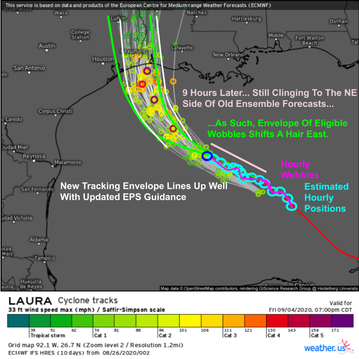 Laura Rapidly Intensifying Into A Major Hurricane This Morning, Landfall Expected Tonight Near The TX/LA Border